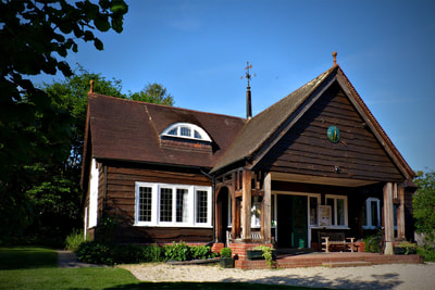 Photograph of the Pavilion in the Portswood Residents' Gardens, Southampton. Venue for the retreat.
